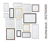 set of white and black blank...   Shutterstock . vector #352703405