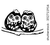 Graphic Image Of An Owl  Two...