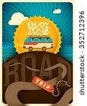 road trip background. vector... | Shutterstock .eps vector #352712396
