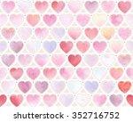 watercolor festive pattern of... | Shutterstock .eps vector #352716752