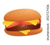hamburger   yummy looking... | Shutterstock .eps vector #352717436
