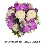 flowers. bouquet of orchids... | Shutterstock . vector #352720565