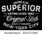new york city superior sport... | Shutterstock .eps vector #352727282