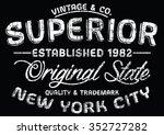 new york city superior sport... | Shutterstock .eps vector #352727282