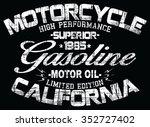 california motorcycle  vector... | Shutterstock .eps vector #352727402