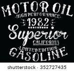 california motor oil superior ... | Shutterstock .eps vector #352727435