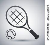 tennis racket and tennis ball ... | Shutterstock .eps vector #352728596