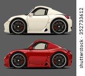 vector modern cartoon car ... | Shutterstock .eps vector #352733612