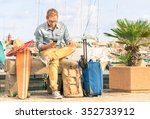 young hipster man ready for the ... | Shutterstock . vector #352733912