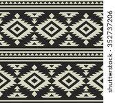 seamless ethnic pattern design | Shutterstock .eps vector #352737206