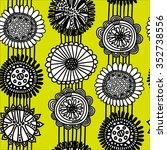 seamless scandinavian pattern...   Shutterstock .eps vector #352738556