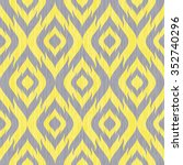 seamless faux ikat tribal... | Shutterstock .eps vector #352740296