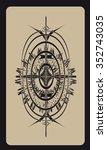tarot cards   back design ... | Shutterstock .eps vector #352743035