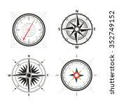 golden wind rose compasses in...   Shutterstock .eps vector #352749152