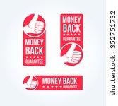 money back guarantee labels | Shutterstock .eps vector #352751732