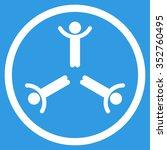 hands up men vector icon. style ... | Shutterstock .eps vector #352760495