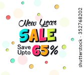 happy new sale. new year... | Shutterstock .eps vector #352768202