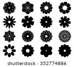 black silhouettes of simple... | Shutterstock .eps vector #352774886