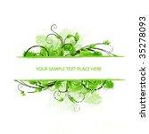 fresh floral border | Shutterstock .eps vector #35278093