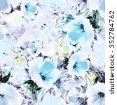 seamless pattern watercolor...   Shutterstock . vector #352784762