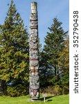 Totem Pole Made By The Haida...