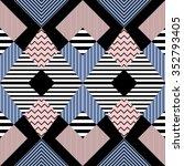 seamless pattern in retro... | Shutterstock .eps vector #352793405