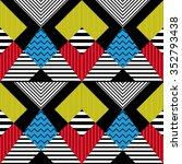 seamless pattern in retro... | Shutterstock .eps vector #352793438