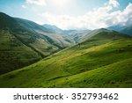 caucasus mountains   sunshine... | Shutterstock . vector #352793462