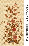 batik design with flower. | Shutterstock . vector #352797062
