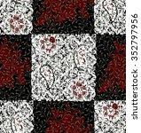 seamless batik pattern.able to... | Shutterstock . vector #352797956