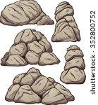 piles of rocks. vector clip art ... | Shutterstock .eps vector #352800752