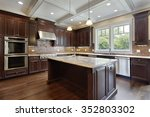 kitchen in new construction... | Shutterstock . vector #352803302