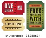 set of colorful cinema tickets  ... | Shutterstock .eps vector #35280634