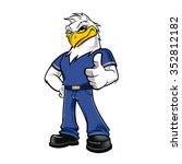 humanoid eagle with clothes and ... | Shutterstock .eps vector #352812182