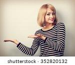 beautiful makeup blond woman... | Shutterstock . vector #352820132