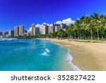 Honolulu, Hawaii. Waikiki beach and Honolulu