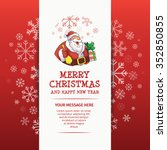 merry christmas santa character ... | Shutterstock .eps vector #352850855