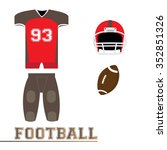 isolated sport uniform and some ... | Shutterstock .eps vector #352851326