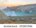 kawah ijen volcano  east java... | Shutterstock . vector #352851986