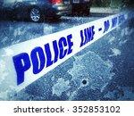 Crime Scene Tape At Scene Of...