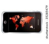 modern technology phone with... | Shutterstock . vector #35285479