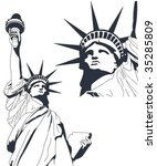 statue of liberty in very high...   Shutterstock .eps vector #35285809
