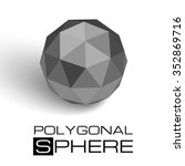 3d textured sphere. realistic... | Shutterstock .eps vector #352869716