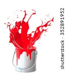 a splash of paint from the jar  ... | Shutterstock . vector #352891952
