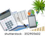 business and financial graph... | Shutterstock . vector #352905602