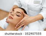 skin and body care. close up of ... | Shutterstock . vector #352907555