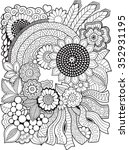 Vector Coloring Book For Adult...