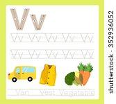 illustrator of v exercise a z... | Shutterstock .eps vector #352936052