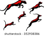 leaping animals set of... | Shutterstock .eps vector #352938386