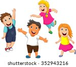 happy kid cartoon | Shutterstock . vector #352943216